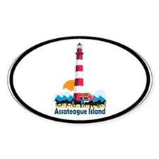 Assateague Island VA Oval Decal