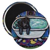 Black Labrador whimsical bath Magnet