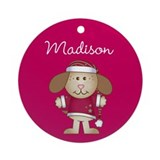 Personalize Child's Name Christmas Ornament Round