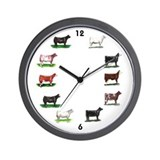 Show Cattle Wall Clock
