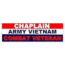 Bumper Sticker/Chaplain Army Vietnam combat Vet