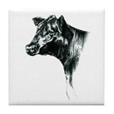 Angus Cow Tile Coaster