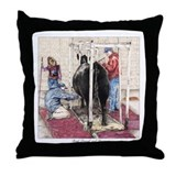 """Bred Owned and Shown"" Throw Pillow"