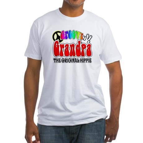Groovy Grandpa Fitted T-Shirt