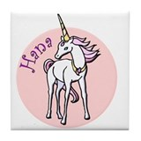 Hana Unicorn Tile Coaster