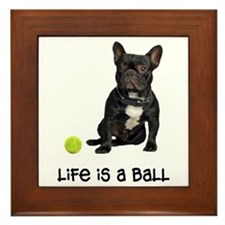 French Bulldog Life Framed Tile