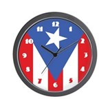 Puerto Rico Flag Wall Clock