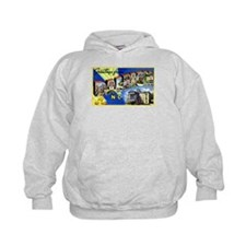Raleigh North Carolina Greetings (Front) Hoodie