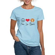 Peace Love Edward T-Shirt