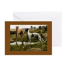 Three Greyhounds Greeting Cards (Pk of 10)