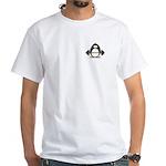 Weight lifting penguin White T-Shirt