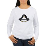 Weight lifting penguin Women's Long Sleeve T-Shirt