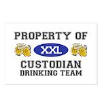Property of Custodian Drinking Team Postcards (Pac