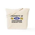Property of Custodian Drinking Team Tote Bag