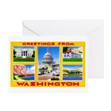 Washington DC Greetings Greeting Card