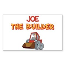 Joe the Builder Rectangle Decal