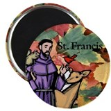 "Saint Francis Leaves 2.25"" Magnet (100 pack)"