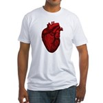 Vintage Anatomical Human Heart Fitted T-Shirt