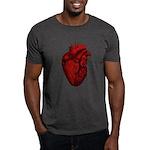 Vintage Anatomical Human Heart Dark T-Shirt