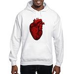 Vintage Anatomical Human Heart Hooded Sweatshirt