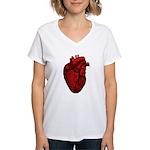 Anatomical Human Heart Women's V-Neck T-Shirt