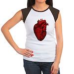 Vintage Anatomical Human Heart Women's Cap Sleeve
