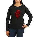 Anatomical Human Heart Women's Long Sleeve T-Shirt