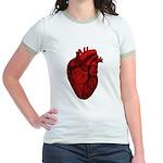 Vintage Anatomical Human Heart Jr. Ringer T-Shirt