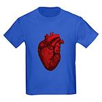Vintage Anatomical Human Heart Kids Dark T-Shirt
