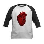 Anatomical Human Heart Kids Baseball Jersey