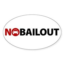 No Auto Bailout Oval Decal