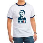 WWRD - What Would Reagan Do? Men's Ringer T