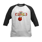 Navy Christmas Kids Baseball Jersey