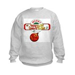 Navy Christmas Kids Sweatshirt