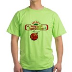 Navy Christmas Green T-Shirt