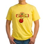 Navy Christmas Yellow T-Shirt