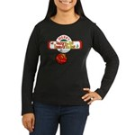 Navy Christmas Women's Long Sleeve Dark T-Shirt