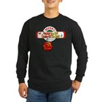 Navy Christmas Long Sleeve Dark T-Shirt