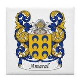 Amaral Family Crest Tile Coaster