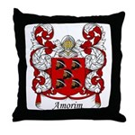 Amorim Family Crest Throw Pillow