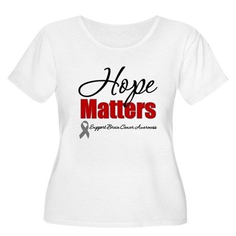 Hope Matters Brain Cancer Women's Plus Size Scoop