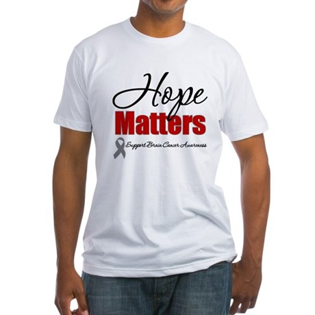 Hope Matters Brain Cancer Fitted T-Shirt
