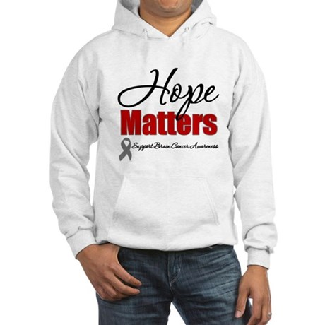 Hope Matters Brain Cancer Hooded Sweatshirt