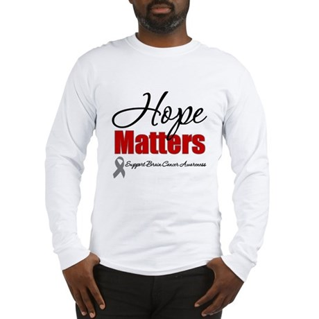 Hope Matters Brain Cancer Long Sleeve T-Shirt