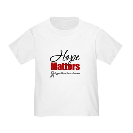 Hope Matters Brain Cancer Toddler T-Shirt