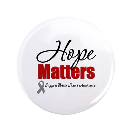 "Hope Matters Brain Cancer 3.5"" Button"