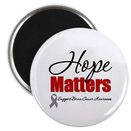 "Hope Matters Brain Cancer 2.25"" Magnet (10 pack)"