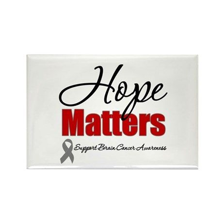Hope Matters Brain Cancer Rectangle Magnet