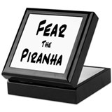 Fear the Piranha Keepsake Box