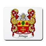 Arriaga Family Crest Mousepad